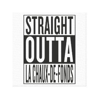 outta recto La Chaux-de-Fonds Impresión En Lienzo