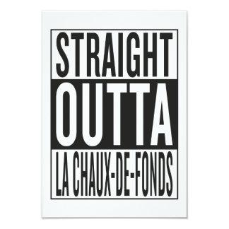 """outta recto La Chaux-de-Fonds Invitación 3.5"""" X 5"""""""