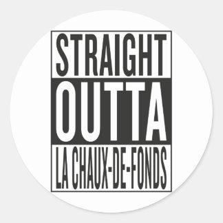 outta recto La Chaux-de-Fonds Pegatina Redonda