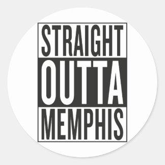 outta recto Memphis Pegatina Redonda