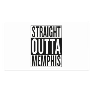 outta recto Memphis Tarjetas De Visita