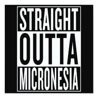 """outta recto Micronesia Invitación 5.25"""" X 5.25"""""""