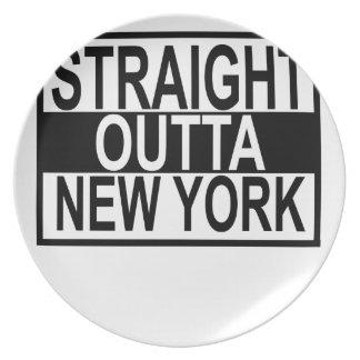 OUTTA RECTO NUEVA YORK .PNG PLATO DE COMIDA