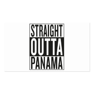 outta recto Panamá Tarjetas De Visita