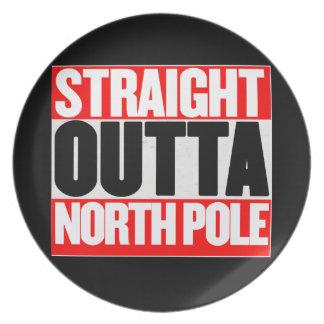Outta recto Polo Norte Platos De Comidas