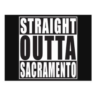 Outta recto Sacramento California Tarjeta Postal