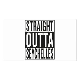 outta recto Seychelles Tarjetas De Visita