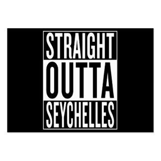 outta recto Seychelles Tarjetas De Visita Grandes