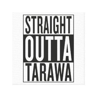 outta recto Tarawa Impresión En Lienzo Estirada