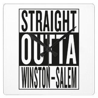 outta recto Winston-Salem Reloj Cuadrado