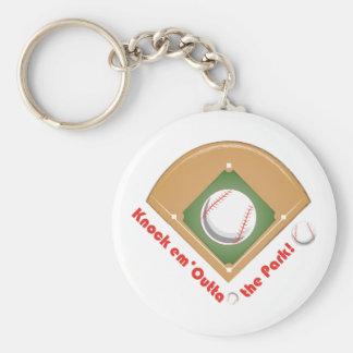 Outta The Park Basic Round Button Keychain