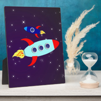 Outta This World! Boy Plaque