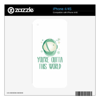 Outta This World iPhone 4 Decal
