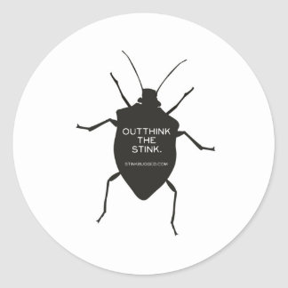 Outthink The Stink (Bug) Classic Round Sticker