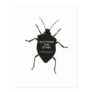 Outthink The Stink (Bug) Postcard