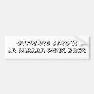 OUTWARD STROKELa Mirada Punk Rock Bumper Sticker