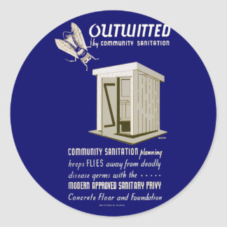 Outwitted by Community Sanitation Classic Round Sticker