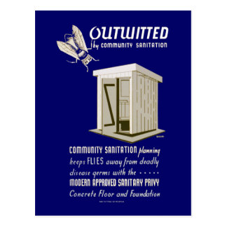 Outwitted by Community Sanitation Postcard