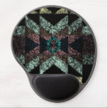 "OutwornTribal Aztek Pattern Gel Mouse Pad<br><div class=""desc"">this is an outworn tribal pattern with dusky pink,  soft green and yellow on a black background. Perfect boho-chic accessory for every occasion.</div>"