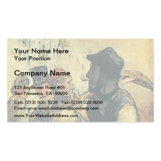 Ouvirers by Honore Daumier Business Card Template