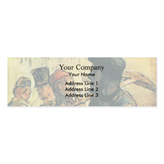 Ouvirers by Honore Daumier Business Card Templates