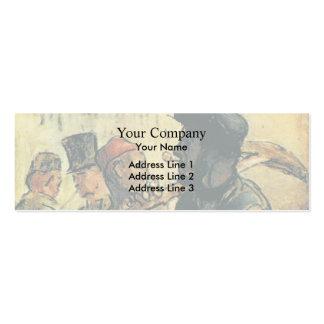 Ouvirers de Honore Daumier Tarjeta Personal