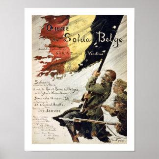 Ouvre du Soldat Belge Poster