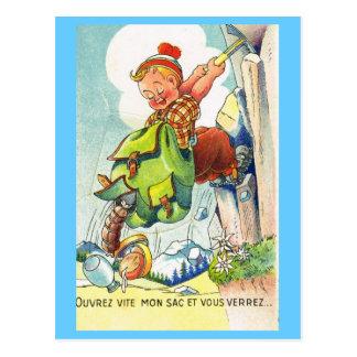Ouvrez vous vite mon sac et vouus verrez... postcard