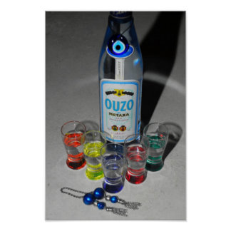 Ouzo with Friends Poster