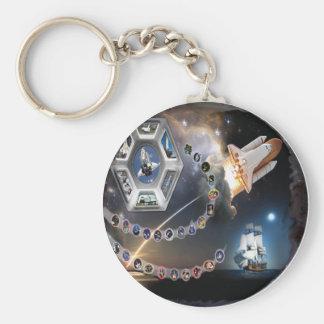 OV 105 Endeavour Basic Round Button Keychain