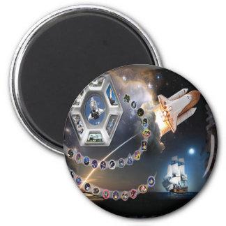 OV 105 Endeavour 2 Inch Round Magnet