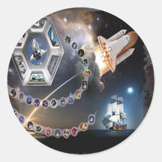 OV 105 Endeavour Classic Round Sticker