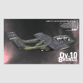 OV-10 Bronco Rectangular Sticker