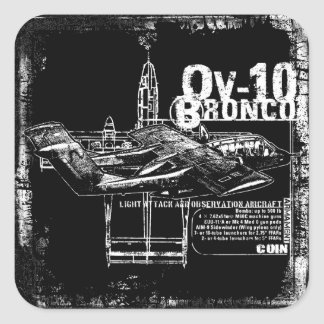 OV-10 Bronco Square Sticker