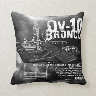 OV-10 Bronco Throw Pillow