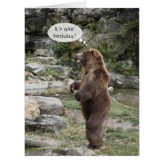 Ovación de pie del oso grizzly GRANDE Tarjeton