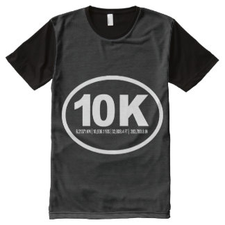 Oval 10K Measurements -   Running Fitness -.png All-Over Print Shirt