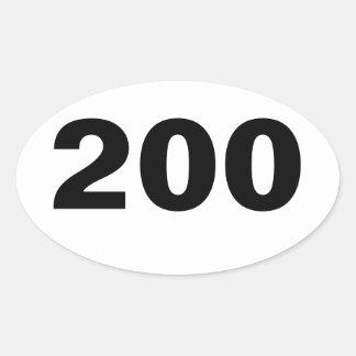 Oval 200 Mile Sticker