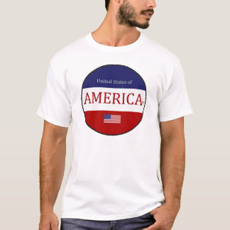 Oval America Colors Modern Designer T-Shirt