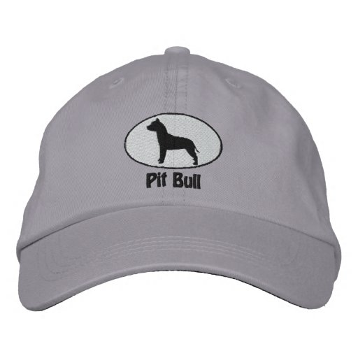 Oval American Pit Bull Terrier Embroidered Hat