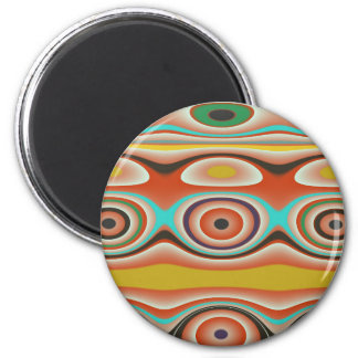 Oval and Circle Pattern Design in Southwestern Magnet