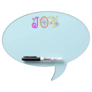 Oval Aquamarine Joy Dry Erase Boards