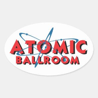 Oval Atomic Sticker