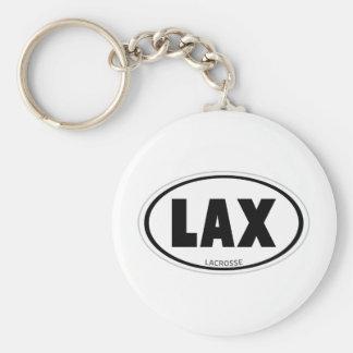 Oval Basic Round Button Keychain