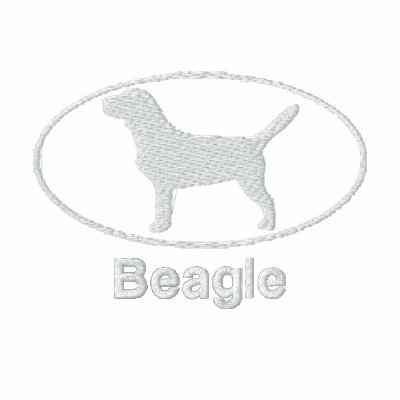 Oval Beagle Embroidered Shirt (Dark)