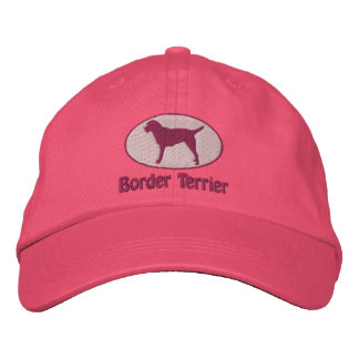 Oval Border Terrier Embroidered Hat (Pink)