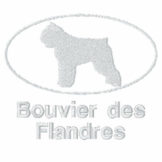 Oval Bouvier des Flandres Embroidered Shirt (Tee)