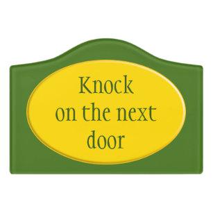 Oval Button   Sun Yellow + Your Backgr. U0026 Ideas Door Sign