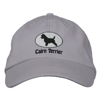 Oval Cairn Terrier Embroidered Hat