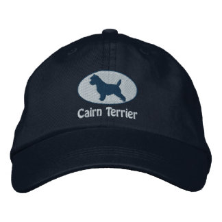 Oval Cairn Terrier Embroidered Hat (Dark)